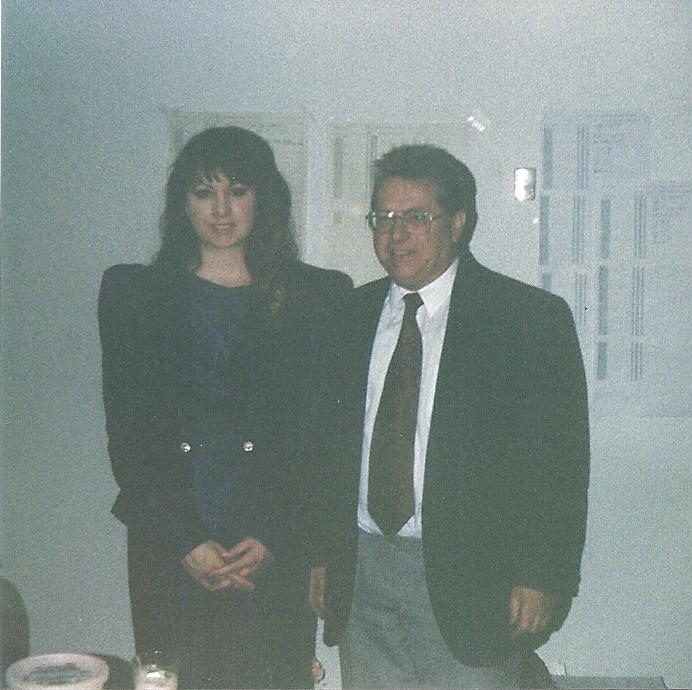 Sherry with her teacher, Lucien Joel